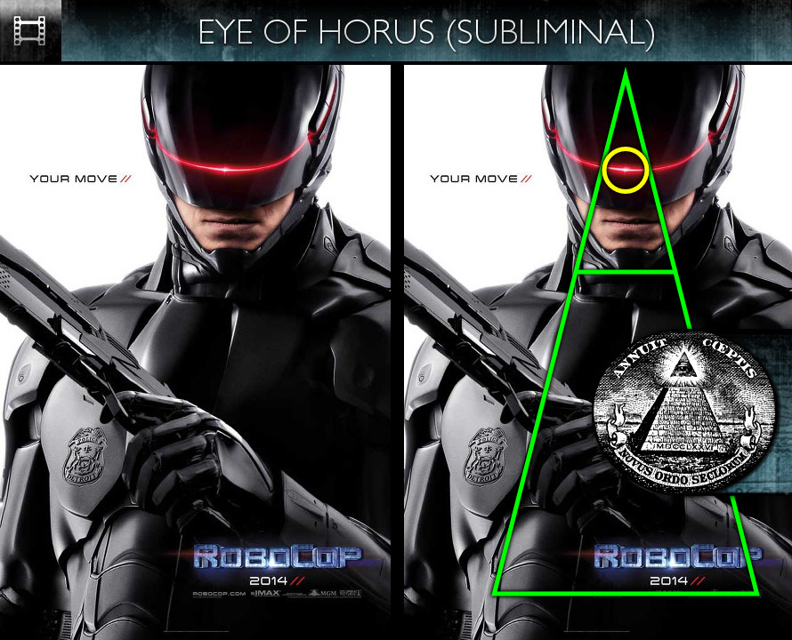 RoboCop (2014) - Poster - Eye of Horus - Subliminal