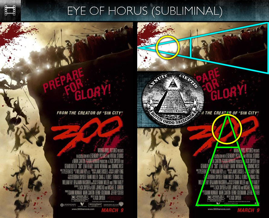300 (2007) - Poster - Eye of Horus - Subliminal