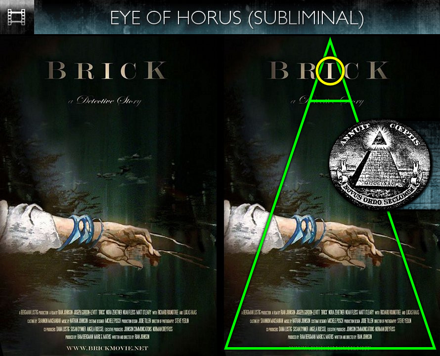Brick (2006) - Poster - Eye of Horus - Subliminal