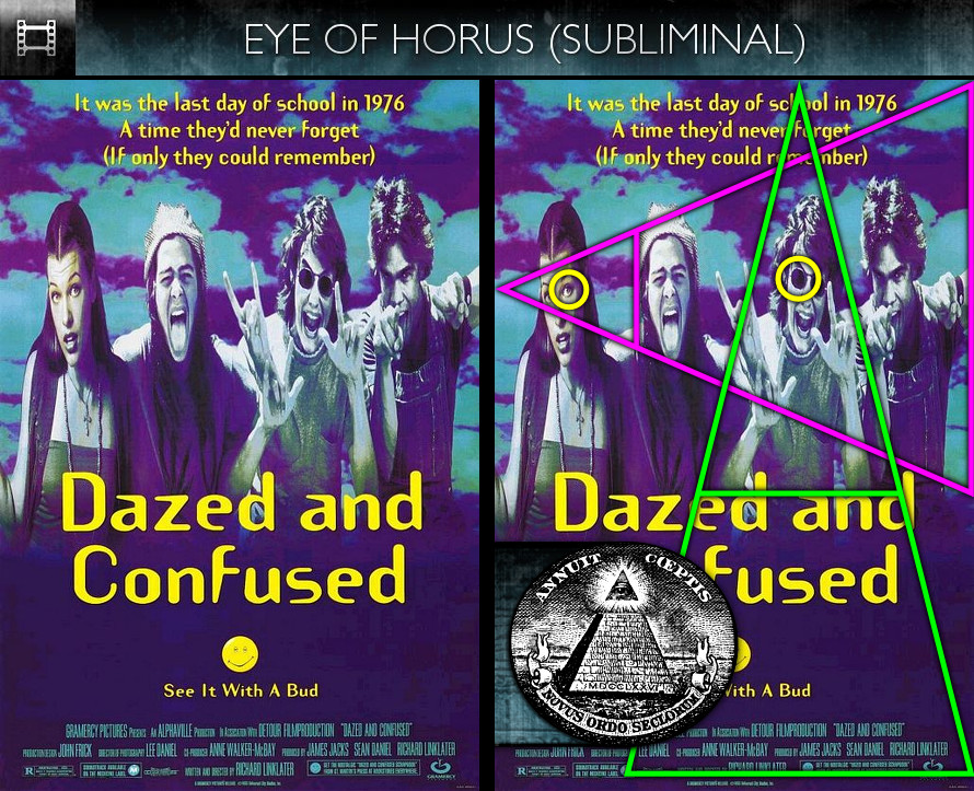 Dazed and Confused (1993) - Poster - Eye of Horus - Subliminal