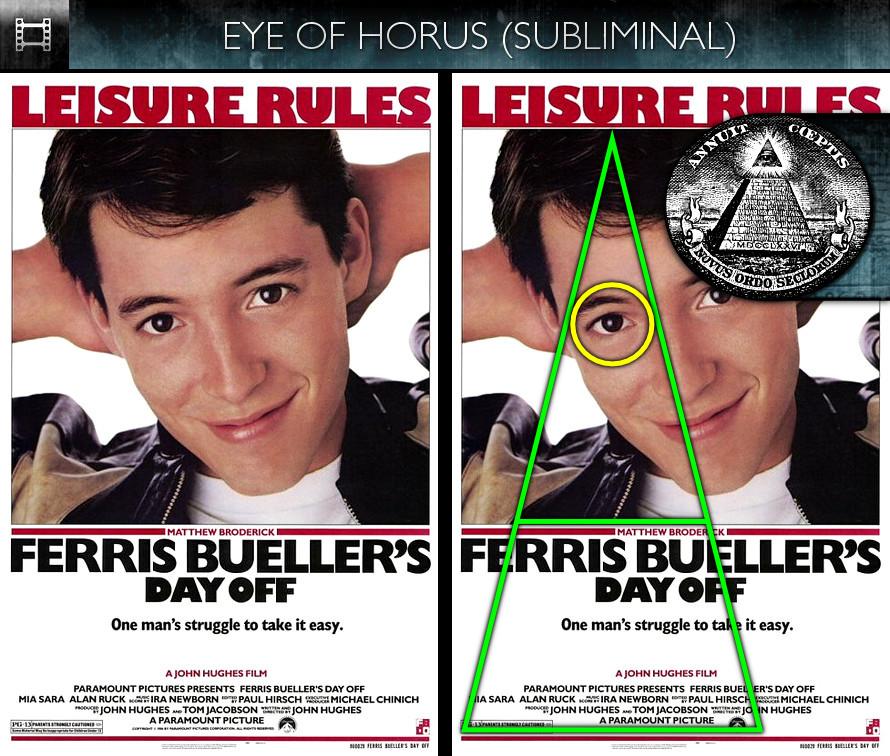 Ferris Bueller's Day Off (1986) - Poster - Eye of Horus - Subliminal