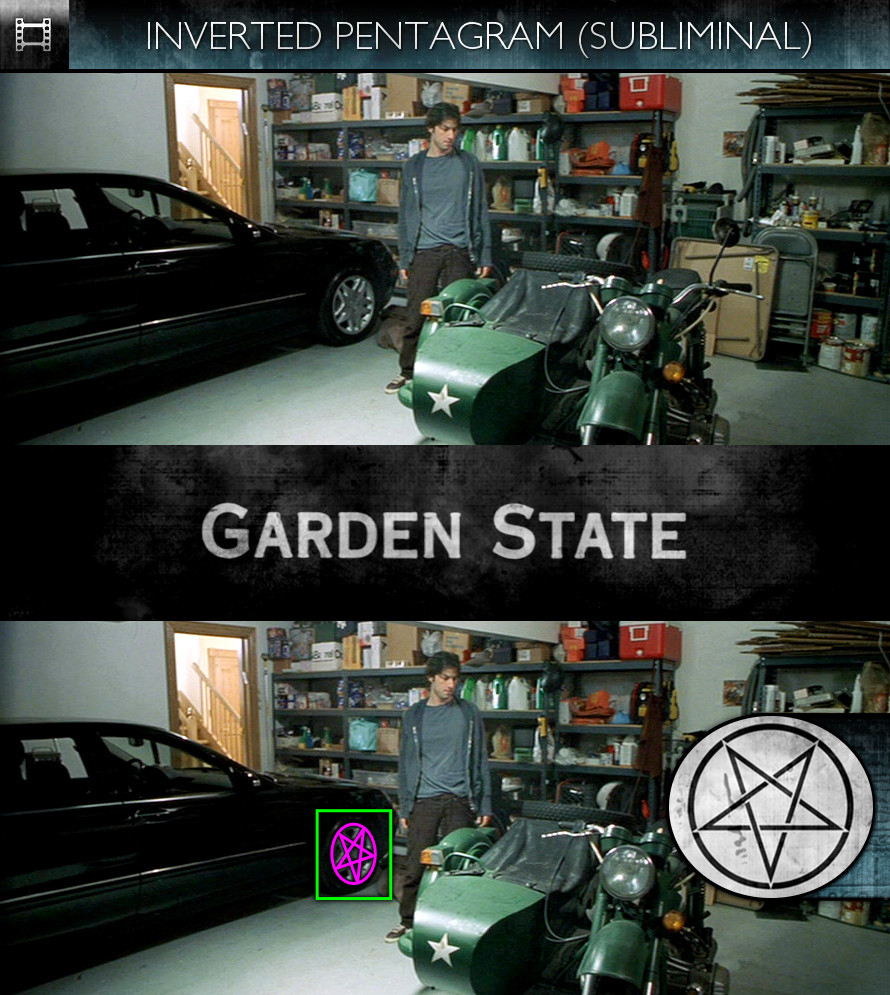 Garden State (2004) - Inverted Pentagram - Subliminal