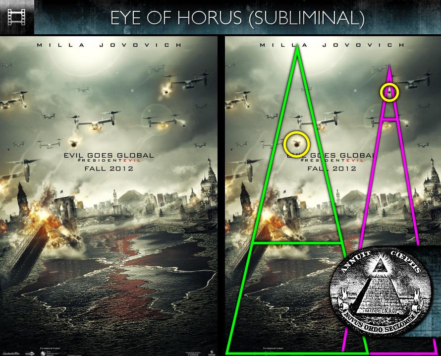 Resident Evil: Retribution (2012) - Poster - Eye of Horus - Subliminal