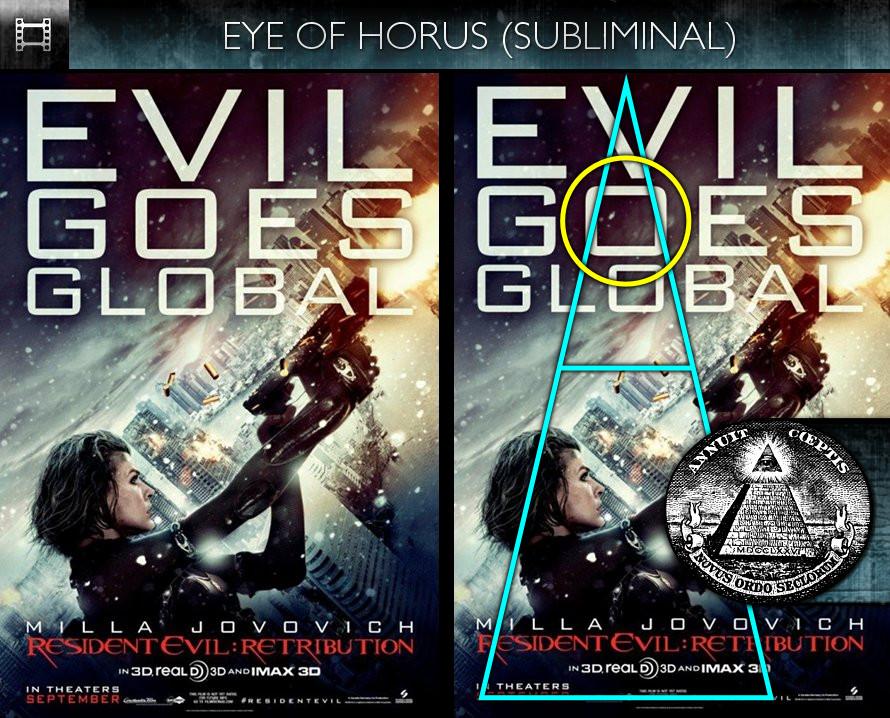 RResident Evil: Retribution (2012) - Poster - Eye of Horus - Subliminal