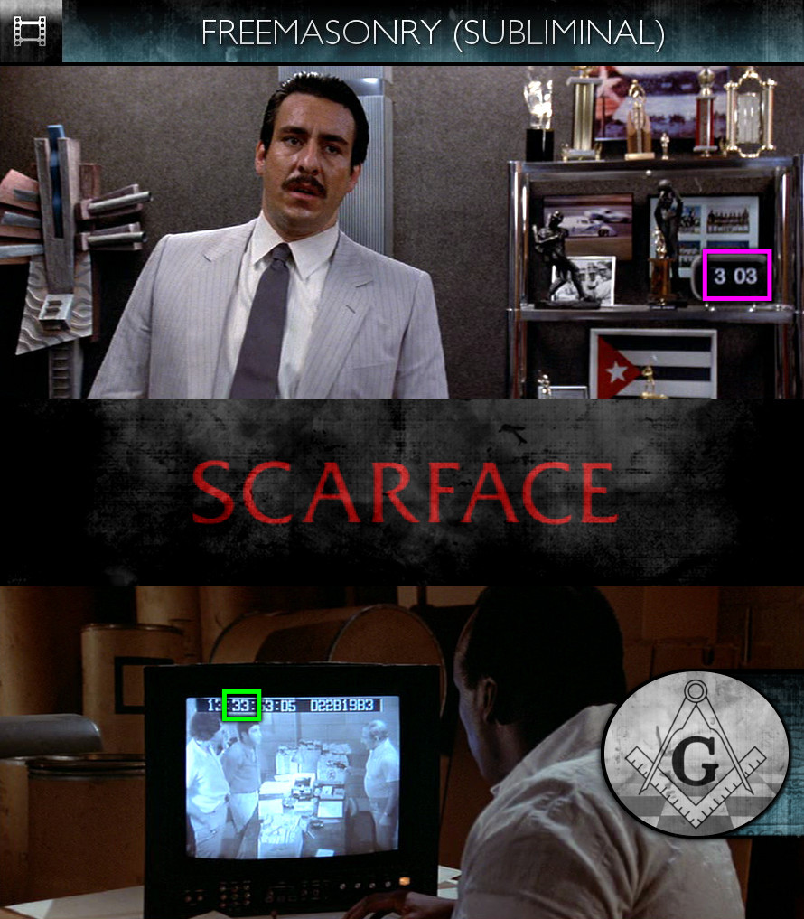 Scarface (1983) - Freemasonry - Subliminal
