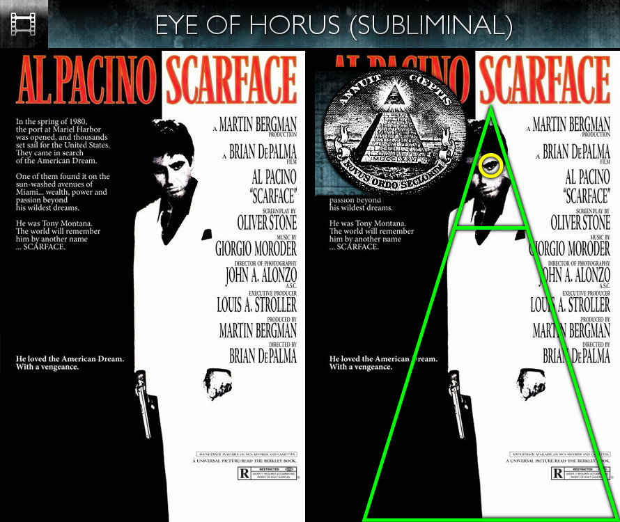 Scarface (1983) - Poster - Eye of Horus - Subliminal