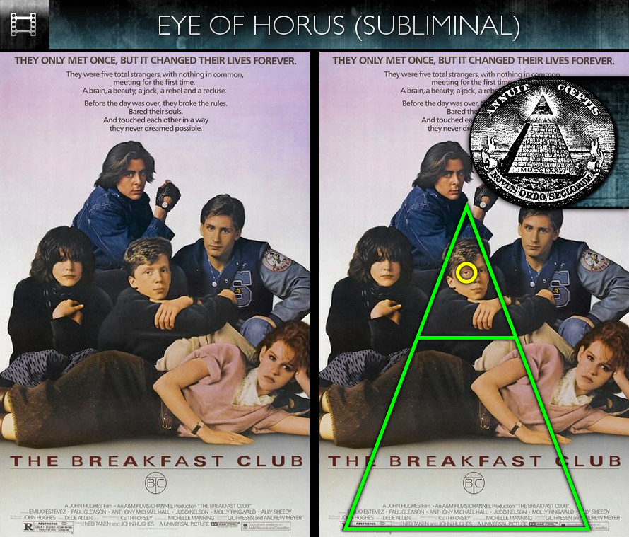 The Breakfast Club (1985) - Poster - Eye of Horus - Subliminal