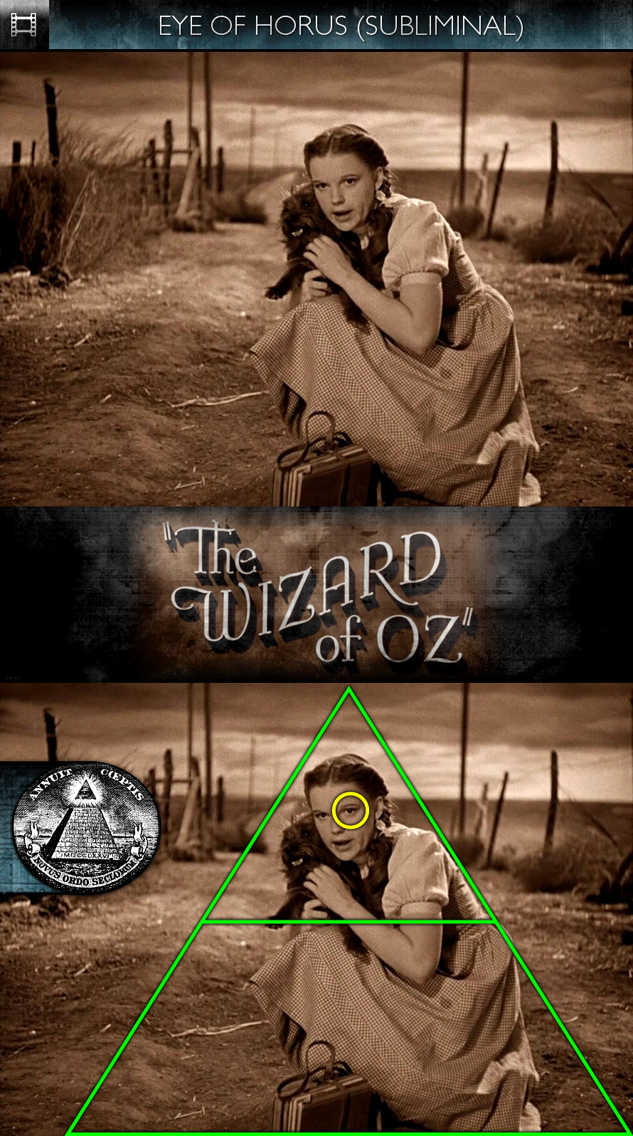 The Wizard of Oz (1939) - Eye of Horus - Subliminal