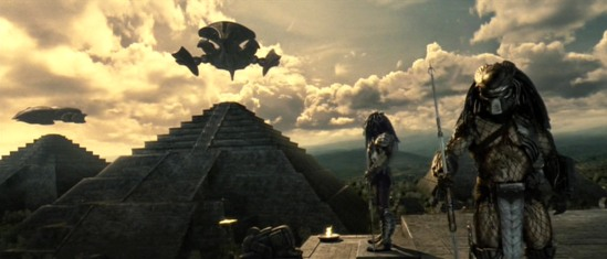 AVP - Alien vs Predator (2004) - Predators Land On the Pyramids