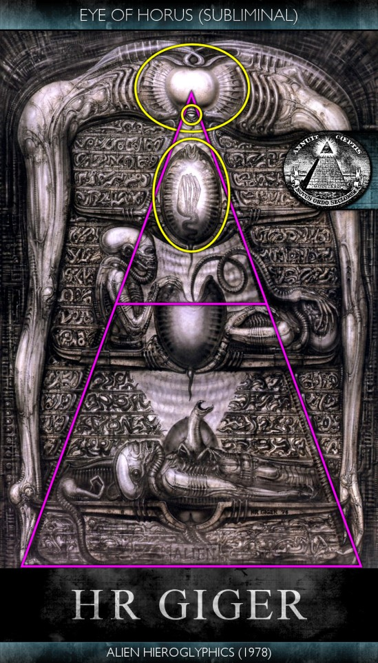 H.R. Giger - Alien Hieroglyphics (1978) - Eye of Horus - Subliminal