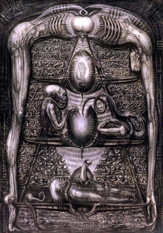 H.R. Giger - Alien Hieroglyphics (1978)
