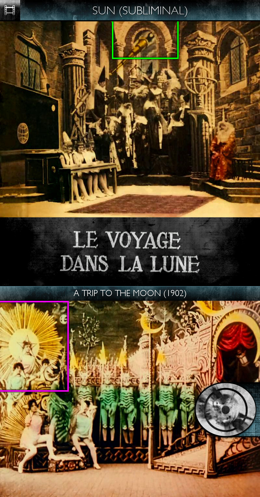 Voyage dans la Lune (A Trip to the Moon) (1902) - Sun/Solar - Subliminal