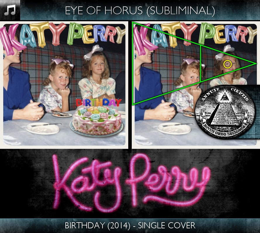 Katy Perry - Birthday (2014) - Single Cover - Eye of Horus - Subliminal