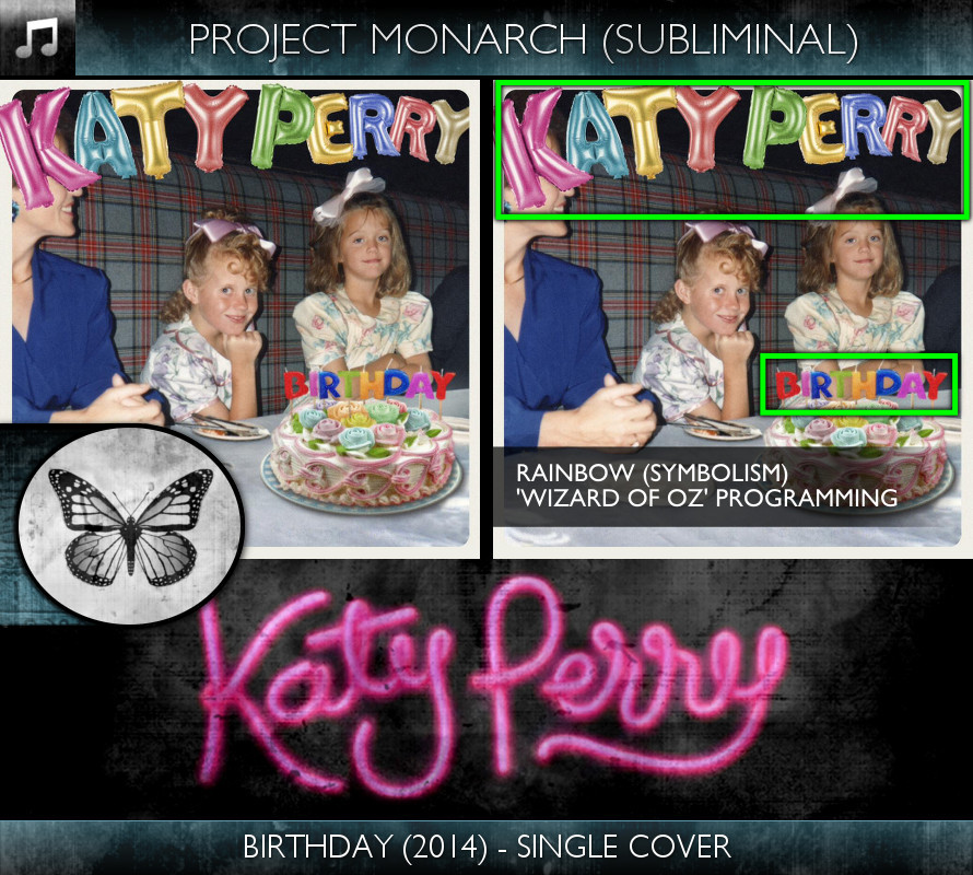 Katy Perry - Birthday (2014) - Single Cover - Project Monarch - Subliminal