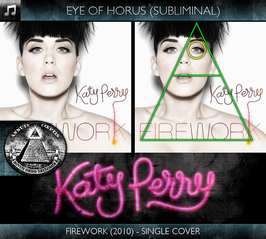 Katy Perry - Firework (2010) - Single Cover - Eye of Horus - Subliminal