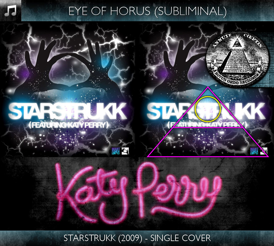 Katy Perry - Starstrukk (2009) - Single Cover - Eye of Horus - Subliminal
