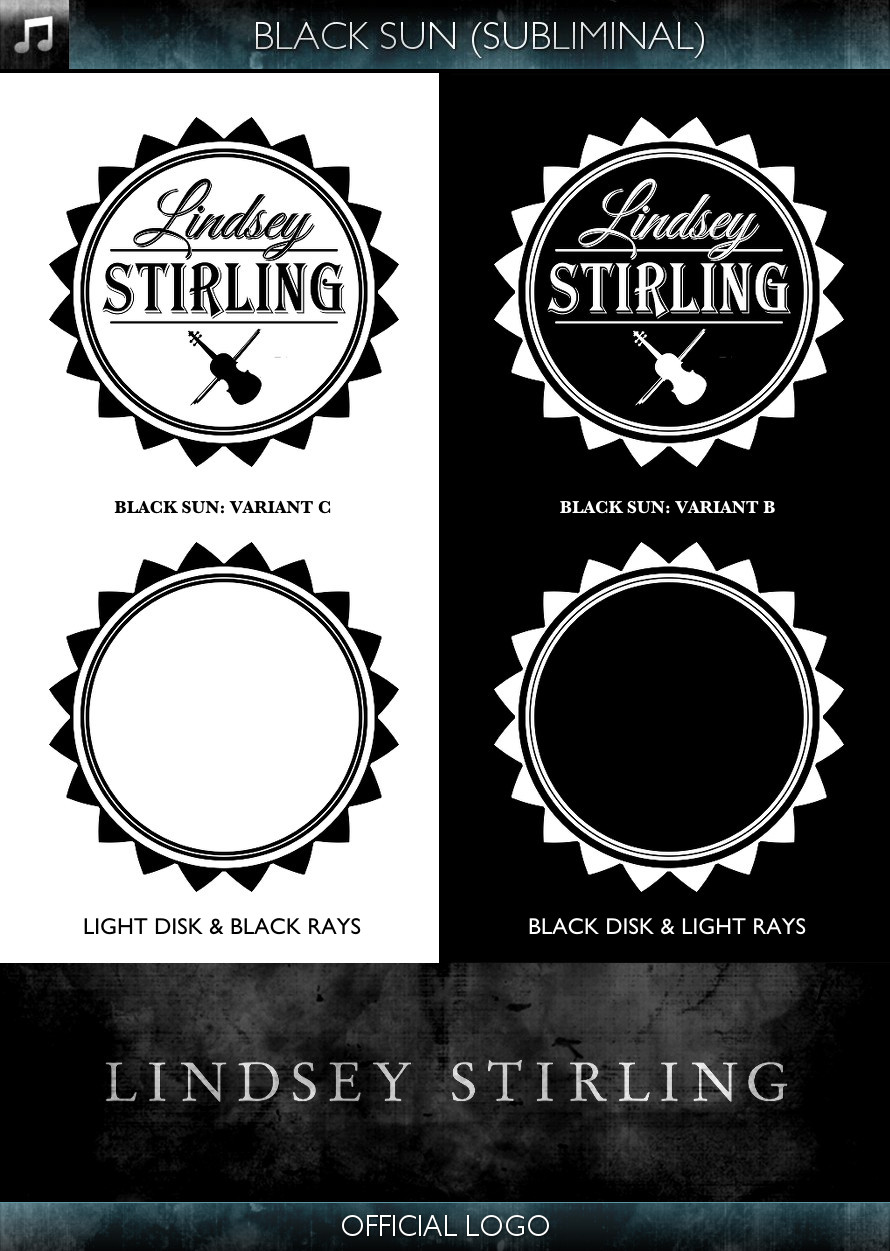 Lindsey Stirling - Official Logo - Black Sun - Subliminal