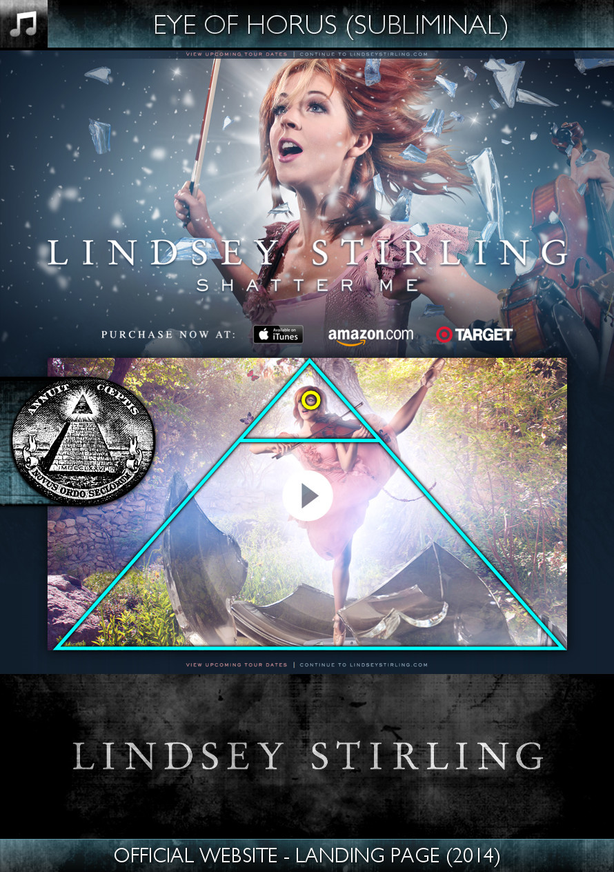 Lindsey Stirling - Official Website Landing Page (2014) - Eye of Horus - Subliminal