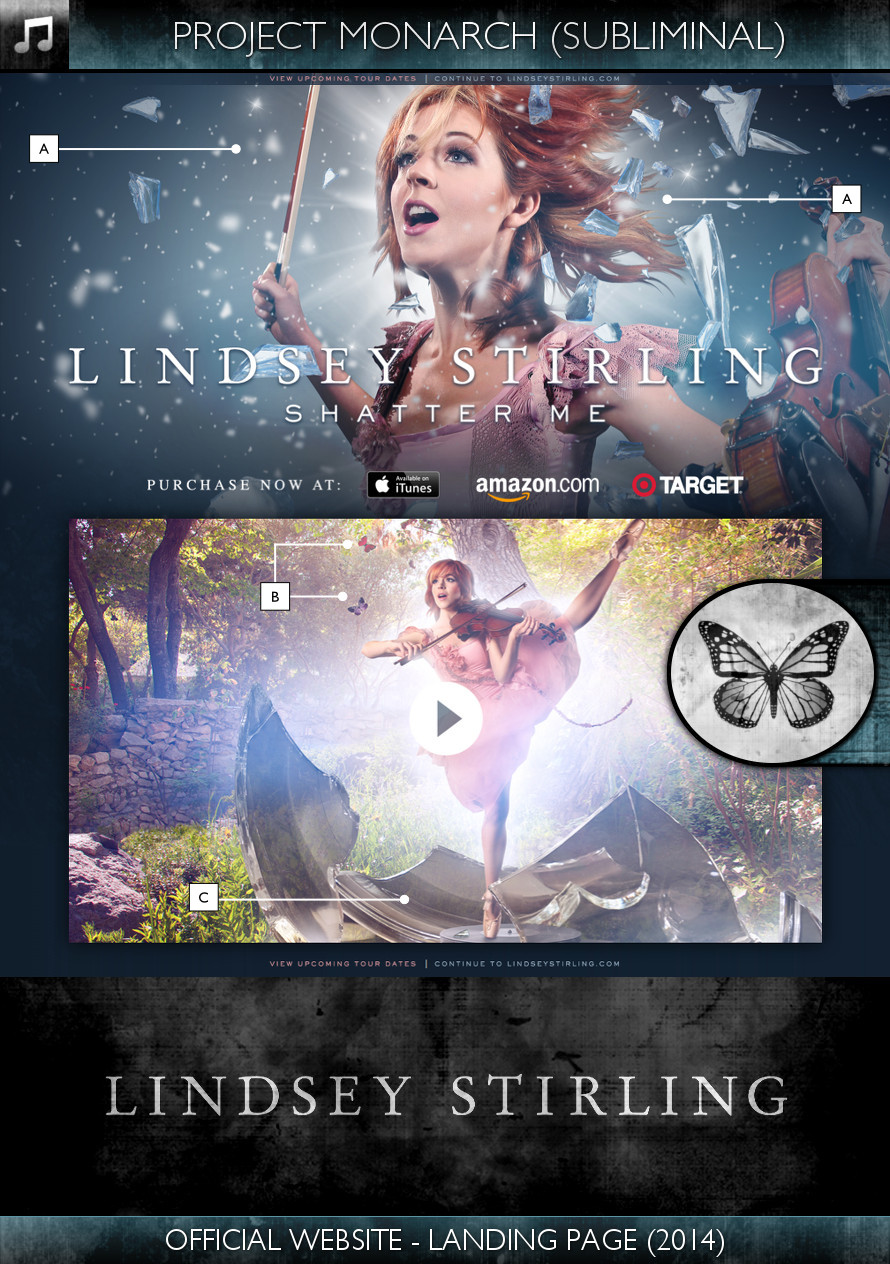 Lindsey Stirling - Official Website Landing Page (2014) - Project Monarch - Subliminal
