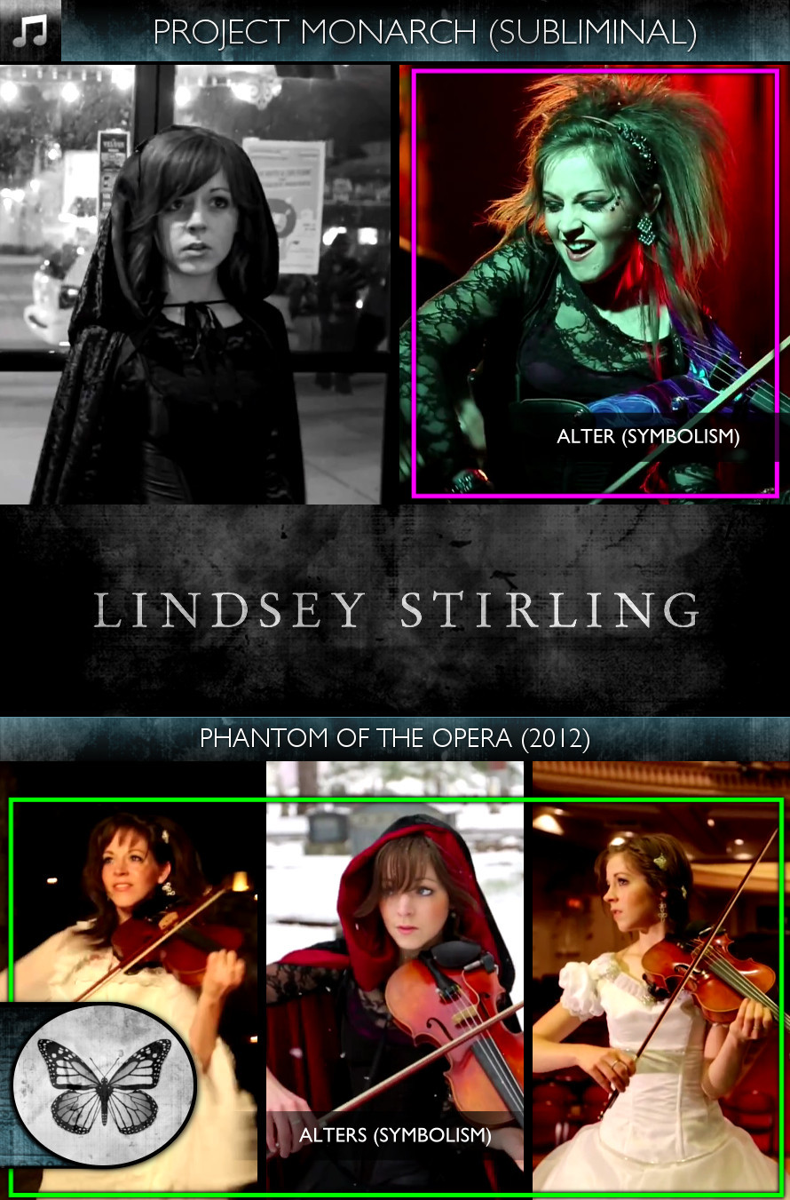 Lindsey Stirling - Phantom of the Opera (2012) - Project Monarch - Subliminal