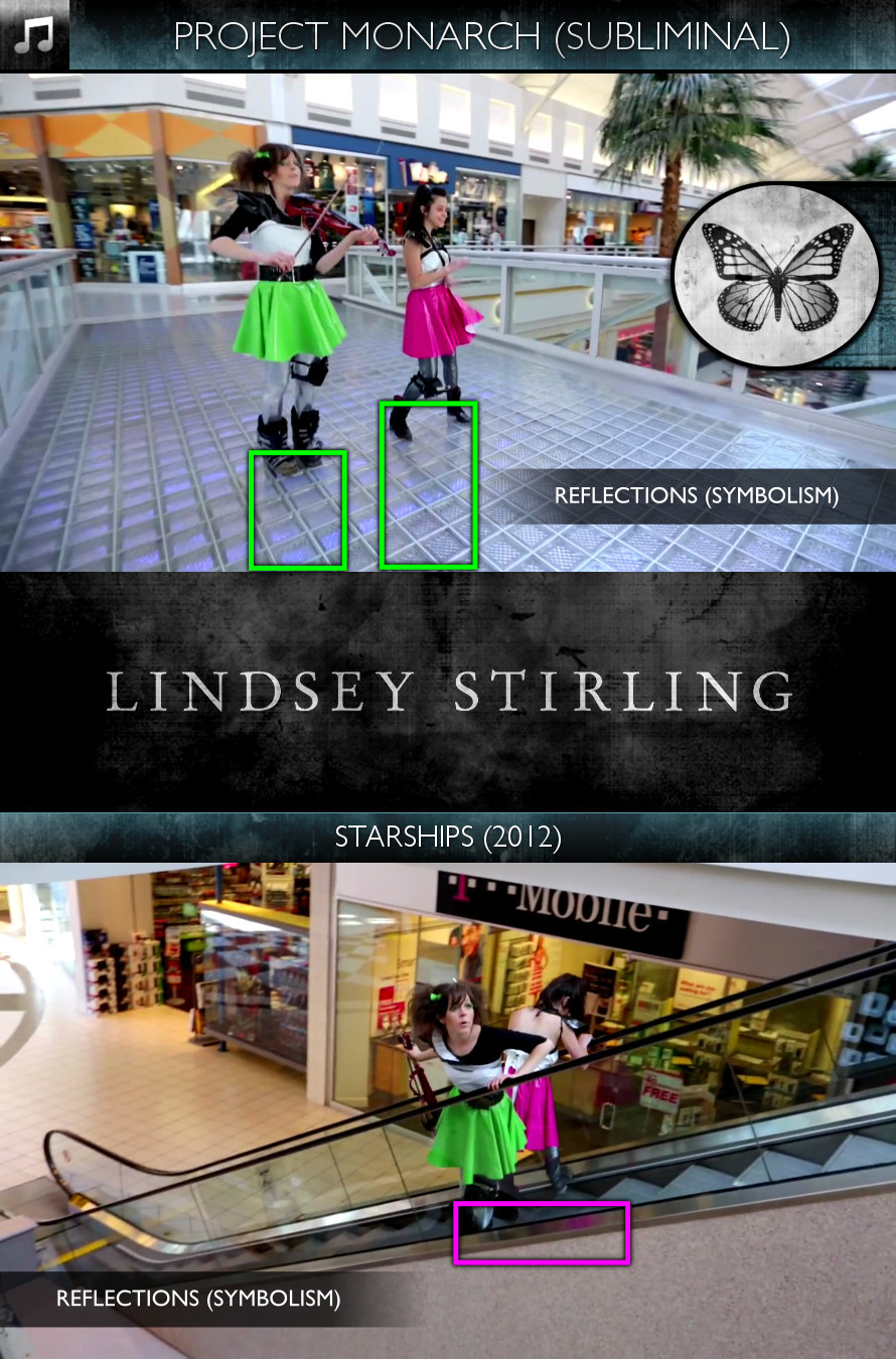 Lindsey Stirling - Starships (2012) - Project Monarch - Subliminal