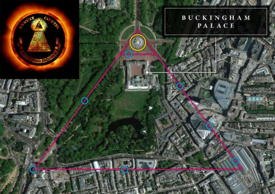 dark-MonarKy - Buckingham Palace - Satellite - Illuminati Subliminal