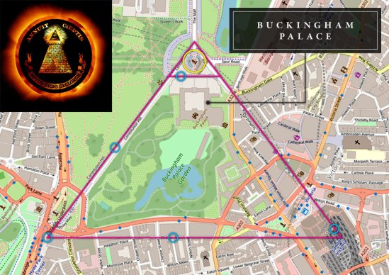 dark-MonarKy - Buckingham Palace - Street Map - Illuminati Subliminal